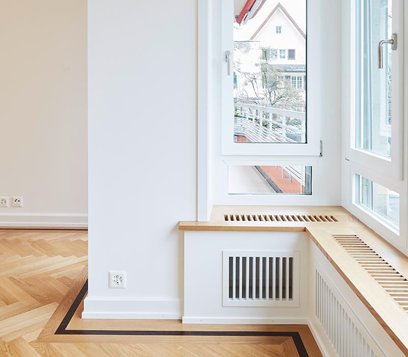 Gladbachstrasse Fenster Cityplan AG Umbau Zürich